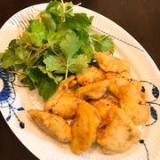 生姜の香りで美味しくふんわり「鶏天」。