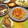 玉ねぎシャキシャキバージョンもいい!太い穴あきパスタブカティーニでつくる「アマトリチャーナ」、牛&豚のミラノ風カツレツとゴルゴンゾーラの焼き野菜
