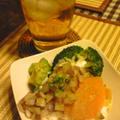 どーしても食べたい!アボカドとサーモンのサラダ仕立て♪とちくわでチャプチェ☆ by @ピノコさん