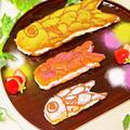 子どもの日ホットケーキミックスで簡単お菓子♡特大の鯉のぼりエクレア♪