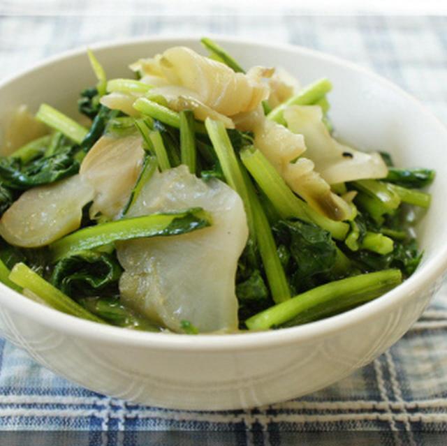* 小松菜とザーサイの炒め物♪
