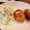 茹で鶏ときゅうりのしそ梅風味のサラダ
