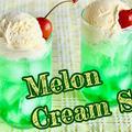 おうちで作るとおいしい!メロンクリームソーダの作り方 英語レシピ   海外向け日本の家庭料理動画   OCHIKERON by オチケロンさん
