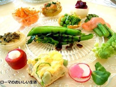 春野菜を使って12種類のアンティパストミスト
