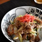 にんにく味噌豚丼