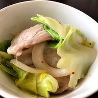 アジアンミックスでタイ風豚肉とキャベツの炒め物@香りソルト