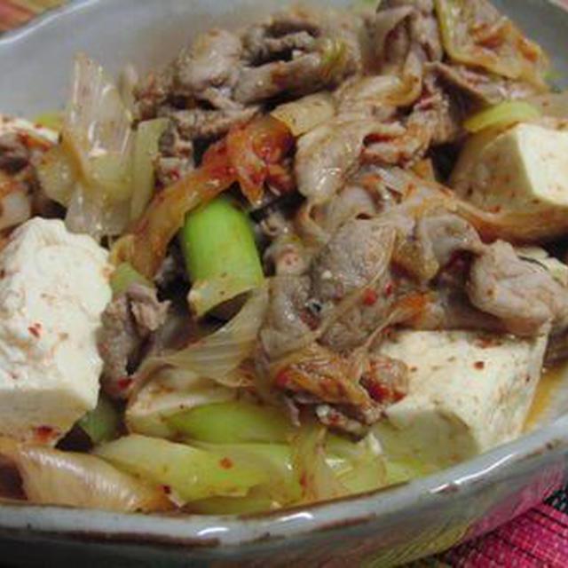 豆腐とチーズ入り♪ 豚キムチ