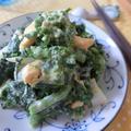塩麹が絶妙♪ 菜の花とゆでたまごの粒マスタード麹マヨ和え