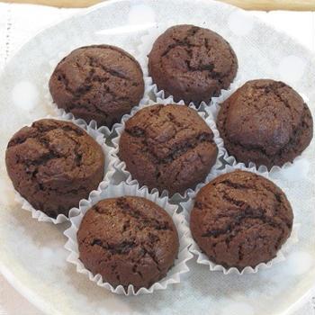 1番簡単♪ チョコカップケーキ