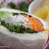 朝ごはん*具だくさんサンドのレシピと昨日のお昼ごはん、スムージーが美味しくなる隠し味