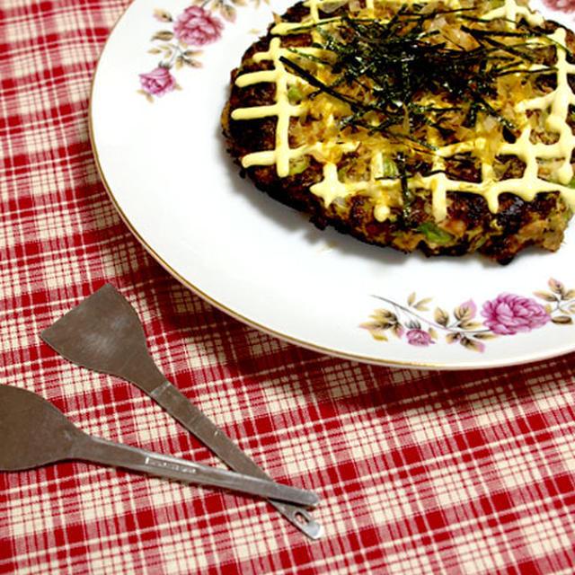 静岡名産自然薯(山芋)で!!ツナと山芋のお好み焼き