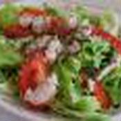 春キャベツと豚肉のバジルチーズサラダ