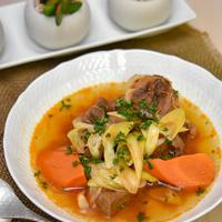 牛肉とにんじんの和風コチュジャンスープ煮|圧力鍋でごちそうスープ