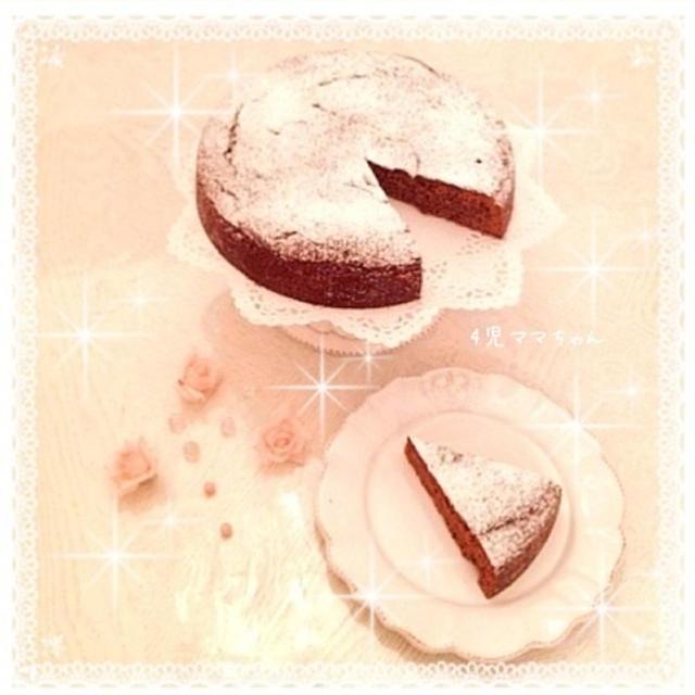 簡単チョコレートケーキ☆レシピ