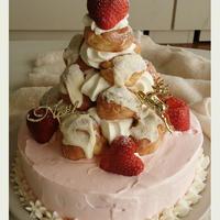 ホワイトツリーのクリスマスケーキ