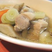 圧力鍋で!オイスターソースが決めて!豚バラ&根菜スープ