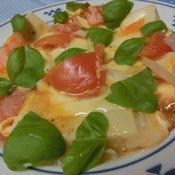 高野豆腐とトマトのイタリアン卵とじ