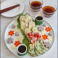 星に願いを♪ 七夕☆ 天ぷら 蕎麦豆腐