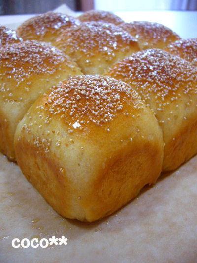 パン生地はHBで☆ふわふわメープルちぎりパン
