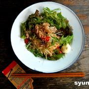 【簡単!!】豚しゃぶとレタスのピリ辛サラダ麺