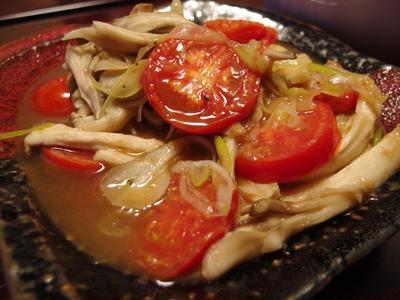 きのことトマトの梅ねぎマリネ・焼きなすのじゃこ梅味噌だれ