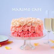 母の日に♪グラデーションが美しいオンブルケーキ【お菓子レシピ】