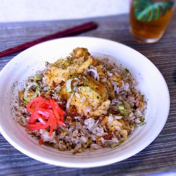 天ぷら蕎麦めし