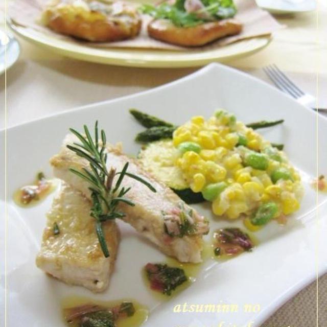 好評だったのでレシピ紹介☆枝豆とトウモロコシのガレット☆