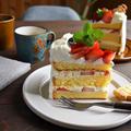 改良版スポンジケーキ (メレンゲなし 共立てタイプ)21・18センチ*クリスマスデコレーションケーキ*