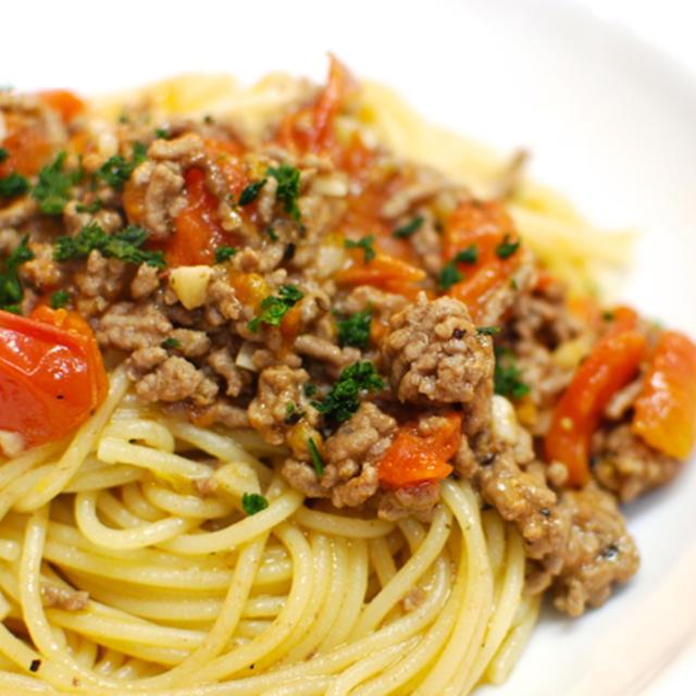 『超簡単シンプル!トマト・ミートスパゲティ』