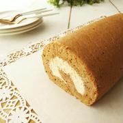 アールグレイ香る ミルクティーシフォンロールケーキ《23cm角の天板使用ver.》