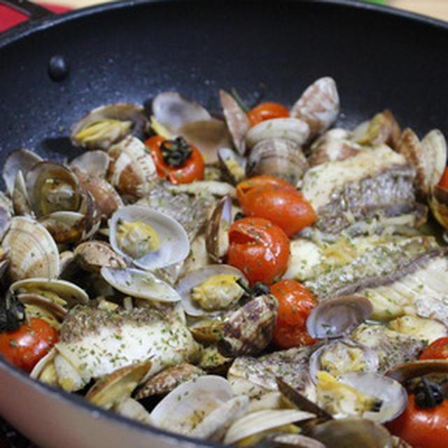 365日レシピNo.323「真鯛のアクアパッツア」