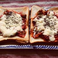 *スパイスブログ*バジル風味のピザトースト