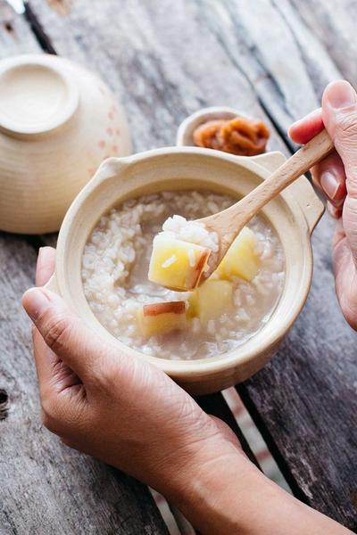 Japanese Rice Porridge with Sweet potato いも茶がゆ