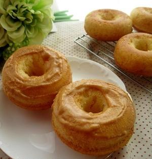 豆乳焼きドーナツきな粉クリーム乗せ(バター不要)