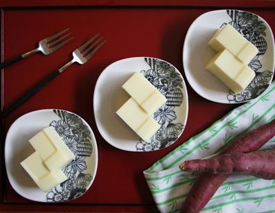 【材料4つ!】さつま芋と牛乳で♪簡単!さつま芋ミルク羊羹