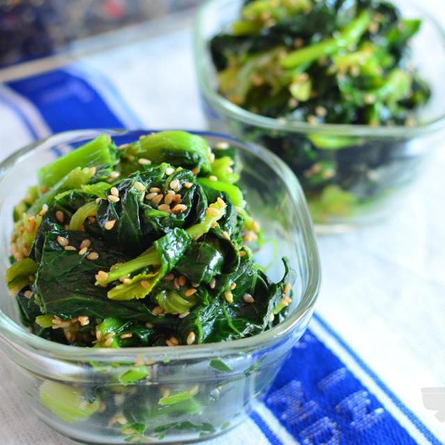 定番常備菜。小松菜のナムル