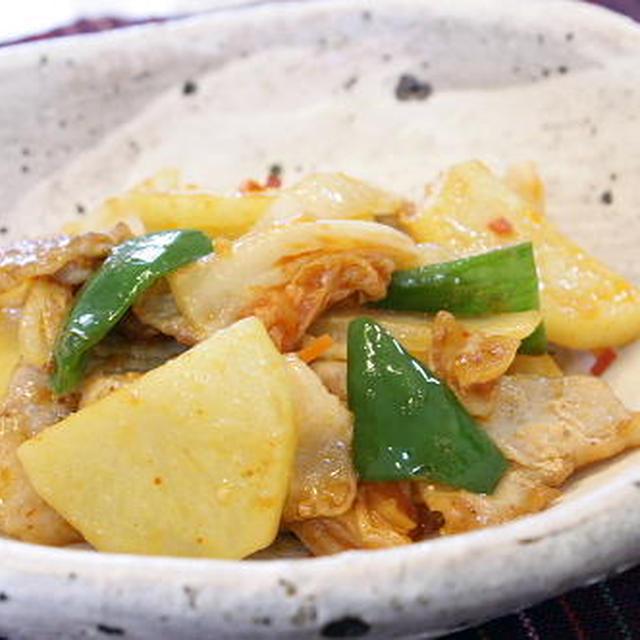 11/07/03 豚肉とキムチの味噌バター炒め