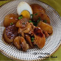 石油ストーブ◡̈ 鶏肉と大根と卵のカレー醤油煮