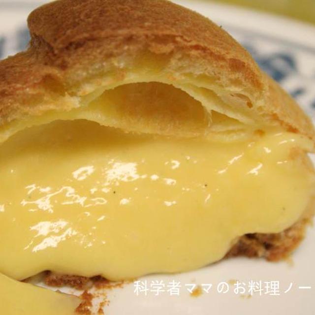 シュークリームレシピその1☆カスタードクリームの作り方とコツ