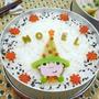 白菜ロール*スナフキンの帽子はクリスマスツリーのお弁当 by goma-milk