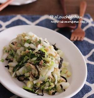 白菜が美味しい季節に…♡鍋だけじゃない!大量消費にも*さっぱり白菜のやみつきサラダ♡