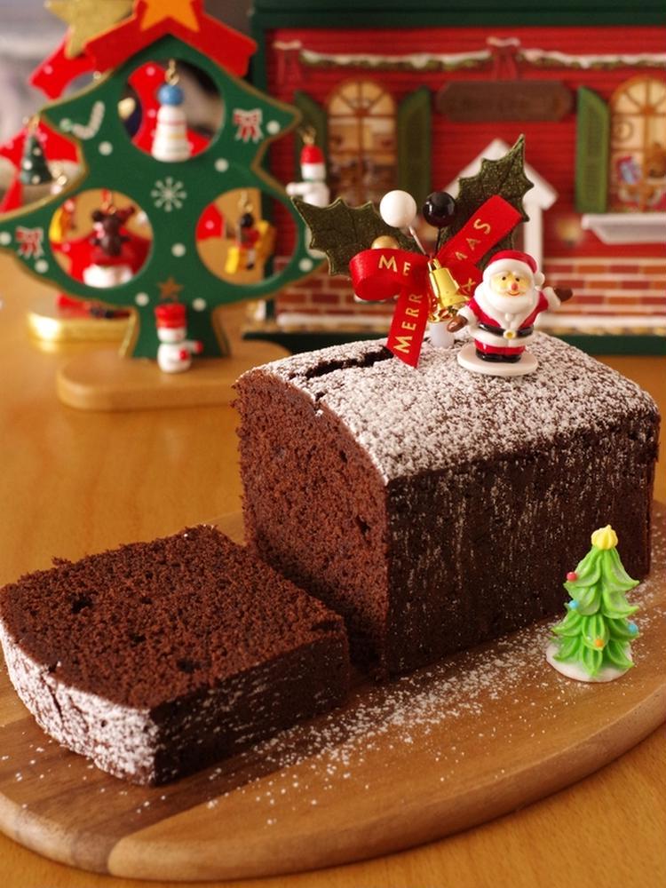 クリスマスの超簡単チョコレートケーキ☆ホットケーキ ...