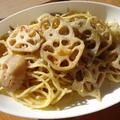 れんこんとパセリのペペロンチーノ