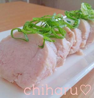【簡単♡】【おつまみ】放置deコツなし♡塩鶏チャーシュー♡