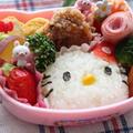 親子遠足のお弁当⭐︎キティちゃんのキャラ弁⭐︎