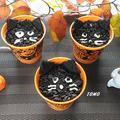 ハロウィンにも♪マシュマロでミルクプリン~黒猫Ver.~ by TOMO(柴犬プリン)さん