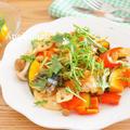 さんまと秋野菜ときのこのバルサミコ炒め by アップルミントさん