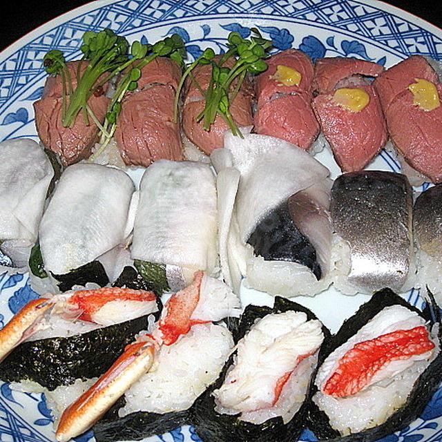 ローストビーフのにぎり寿司