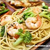 [スパイス大使] 海老とブロッコリーのガーリックパスタ レシピ